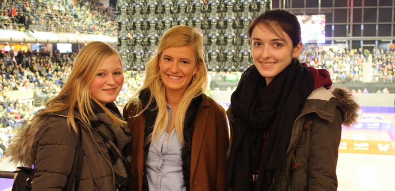 Svea, Nadine und Natascha bei den German Open 2016 in Berlin.