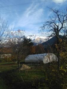 So lässt es sich aushalten: Blick auf die französischen Alpen