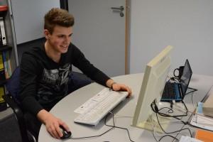 Zwei Wochen für den DTTB im Einsatz: Schülerpraktikant Nick Rack