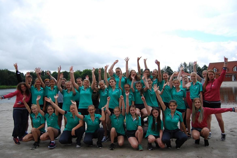Die Teilnehmerinnen beim Girls Camp in Ihlow
