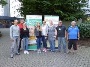 V.l.n.r.: Peter Lautenbach, Jörg Becker, Christina Gassner, Kerstin Breßler, Céline Denis, Wiebke Hartmanns, Dirk Kilian, Gerhard Treutlein.